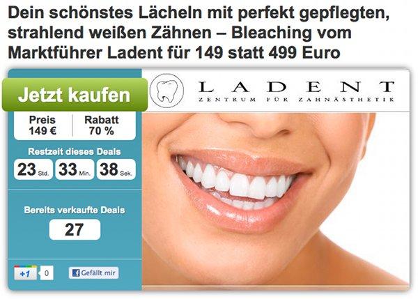 149,- € statt 499 € für weiße Zähne