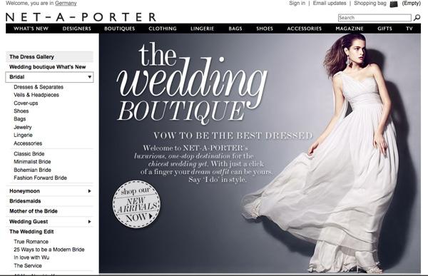 Keine 08/15 Braut: Kleider bei Net-a-Porter, Yoox und Co.