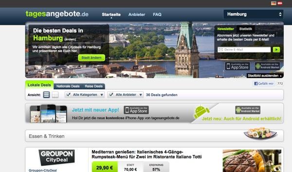 Aktuelle Deals auf Tagesangebote.de