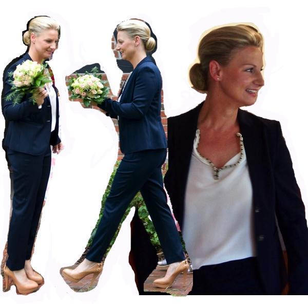 Anzug von Esprit, Schuhe von Guess
