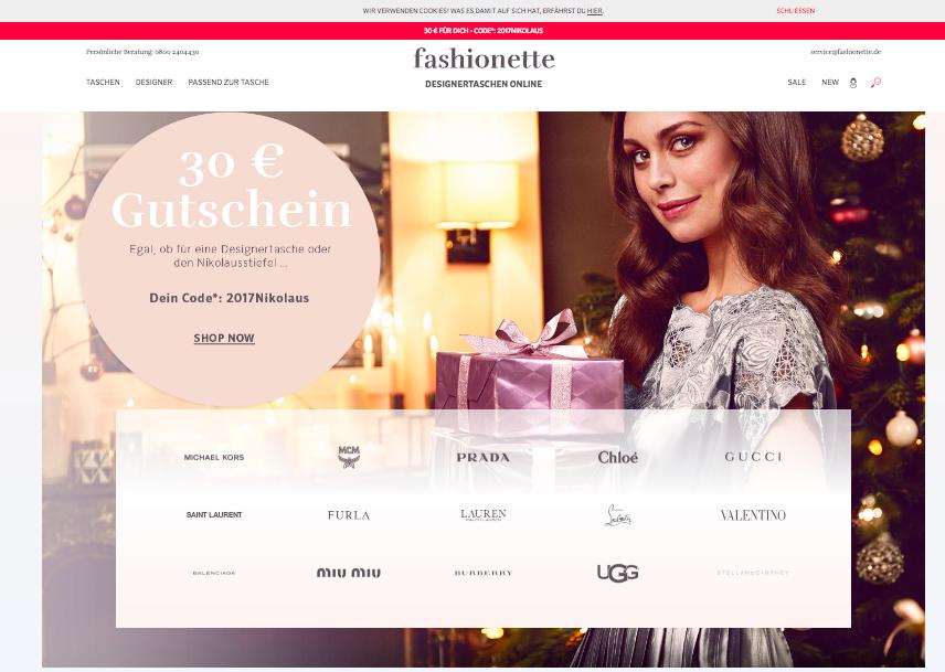 Designertaschen und Schuhe bei Fashionette