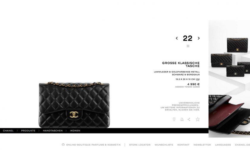 Handtasche Chanel 2.55 Designertasche