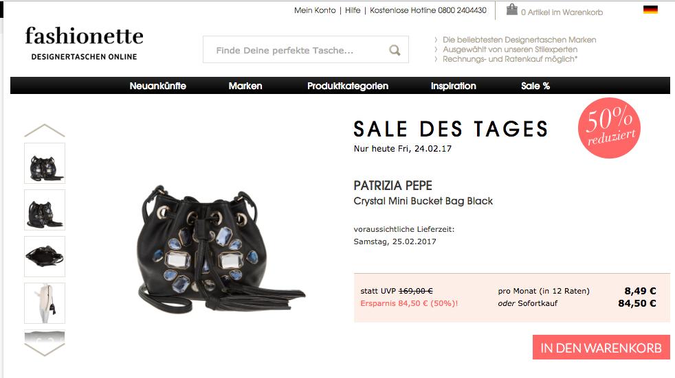Designertasche im Sale des Tages Fashionette