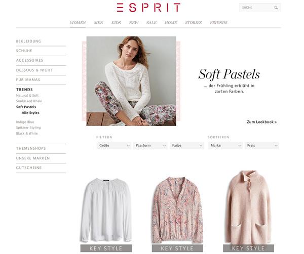 Esprit Soft Pastels