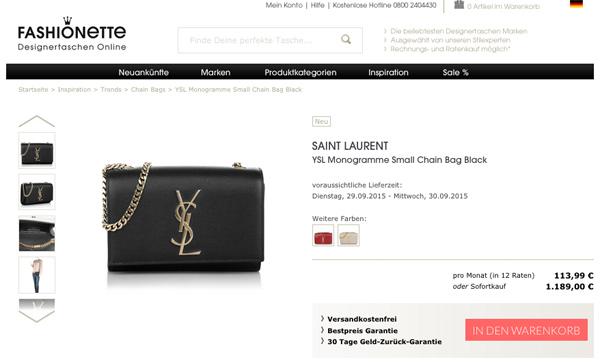Yves Saint Laurent Tasche