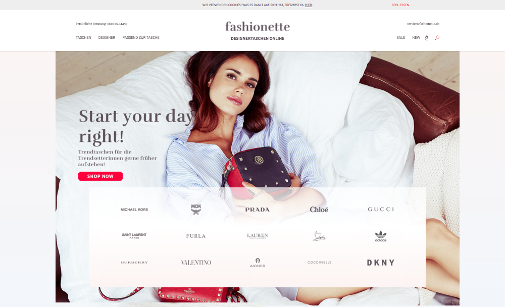 Fashionette.de Designerportal