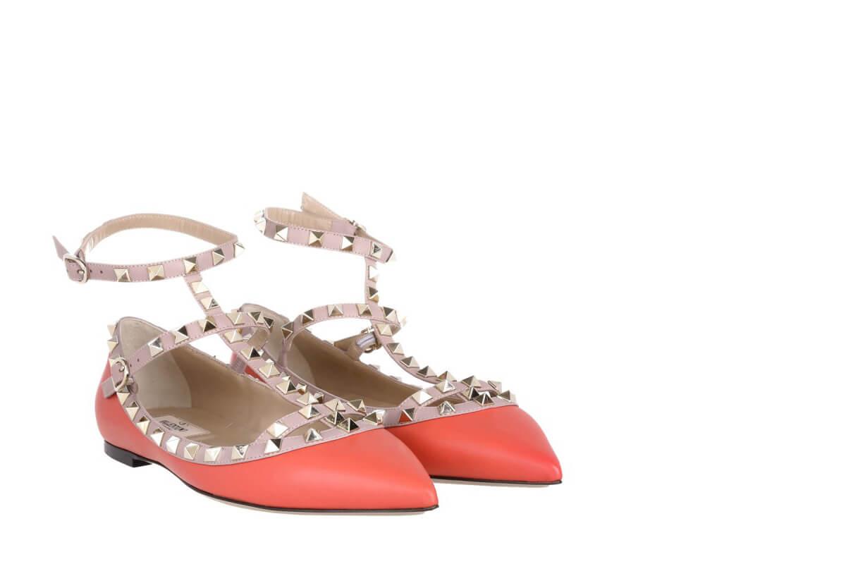 Valentino Rockstud Ballerinas Fashionette